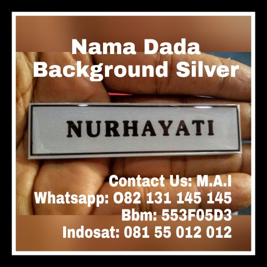 SILVER NAME TAG
