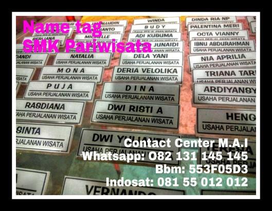 Name tag SMK Pariwisata