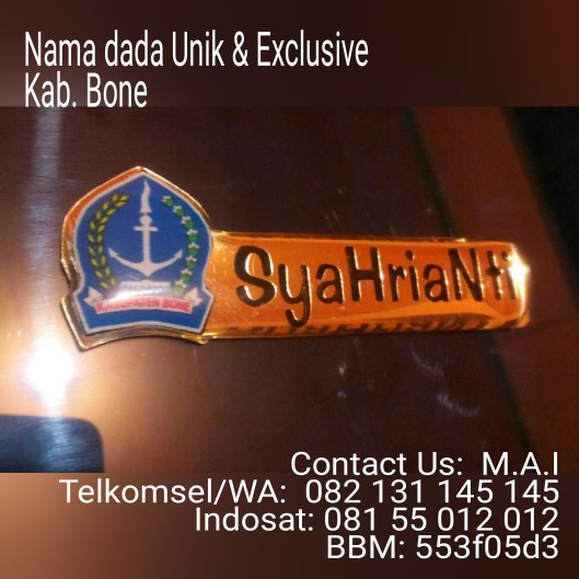 Exclusive name tag Kabupaten Bone