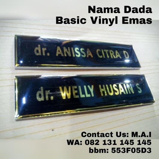 Nama dada basic bahan Vinyl Emas