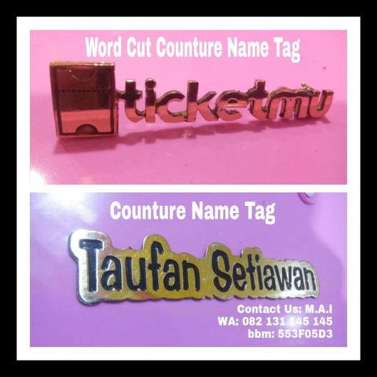 Word Cut n Counture name tag