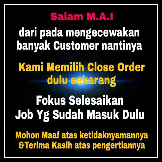 Close order dulu,Maaf