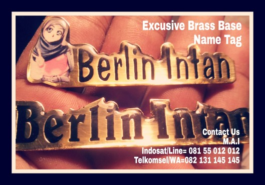 Exclusive Brass base Name tag