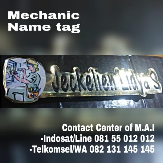 mechanic name tag