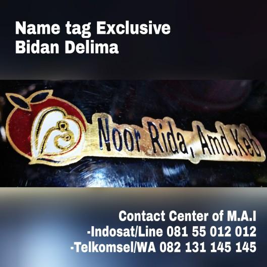 Name tag exclusive bidan Delima Indonesi