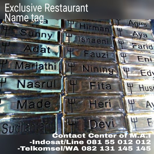 Name tag of Restaurant