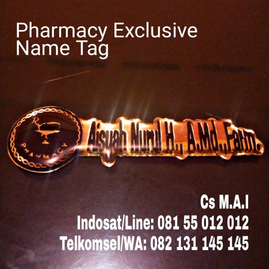 Pharmacy Exclusive name tag