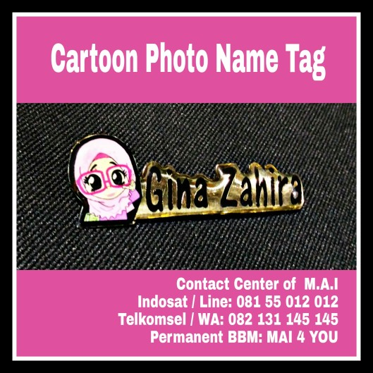 Cartoon Photo Name tag