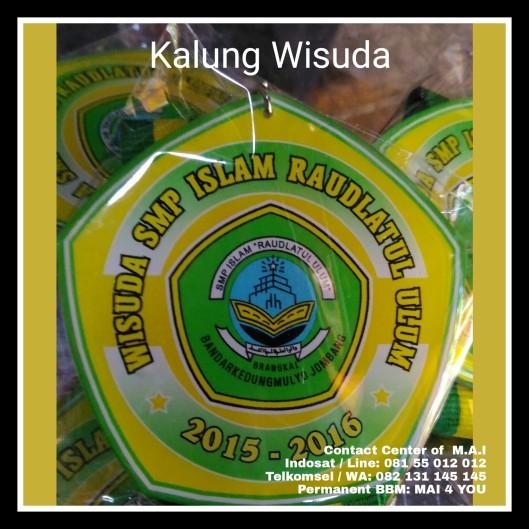 M.A.I.  Kalung wisuda SMP Islam Raudlatul Ulum