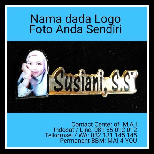 Nama dada Logo Foto Anda Sendiri