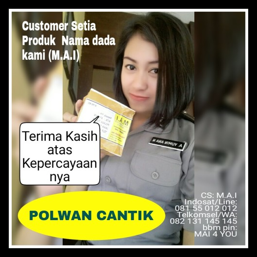 Terima Kasih Customer setia Kami,Polwan Cantik
