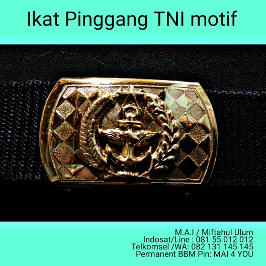 ikat pinggang kualitas, PDH TNI Bermotif