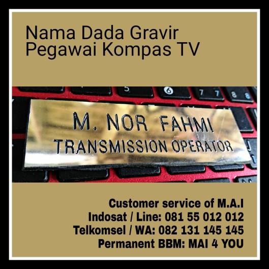 Nama Dada Gravir Ukir, Pegawai Kompas Tv