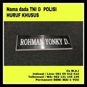 Nama dada TNI dan Polisi Huruf Khusus