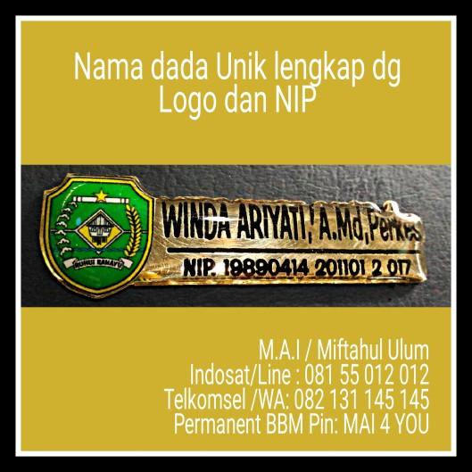 Nama Dada uNik dengan logo dan NIP