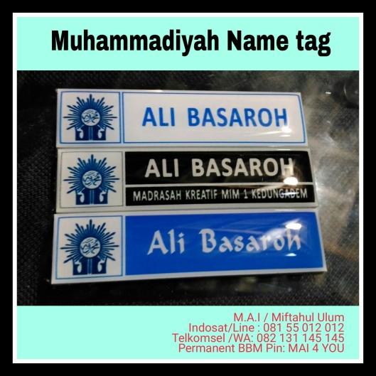 name tag Muhammadiyah