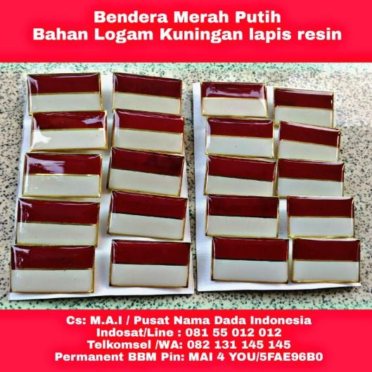 Bendera merah Putih Resin