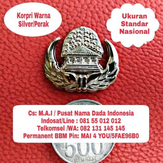 korpri silver perak ukuran standar nasional