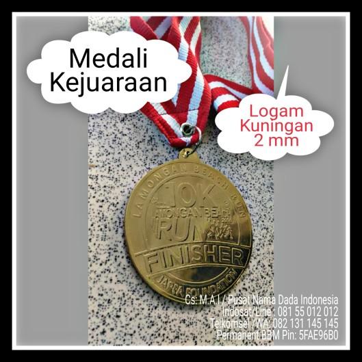 Medali Kejuaraan Bahan Logam Kuningan Tebal