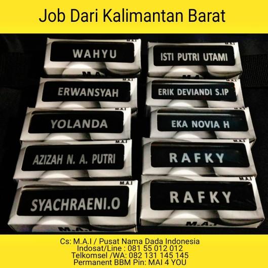 Nama Dada Kalimantan Barat Packing