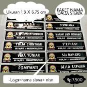 Paket Nama dada Siswa