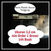Peniti Plastik Ukuran tanggung 3,2 cm
