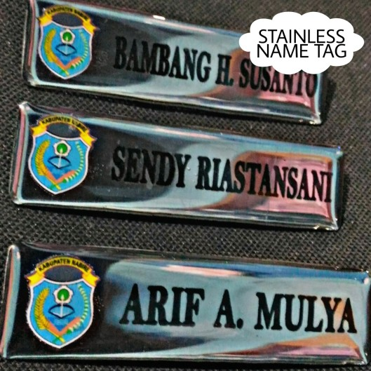 Stainless Name tag with Logo
