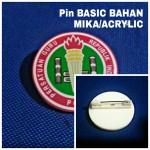 Pin Basic Bahan Mika Acrylic