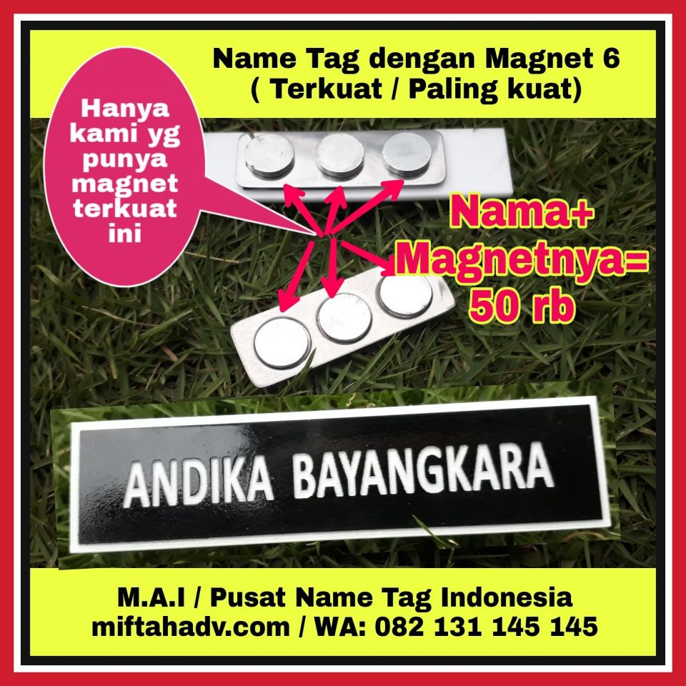 M.A.I / Pusat Name Tag / Papan Nama Dada Indonesia